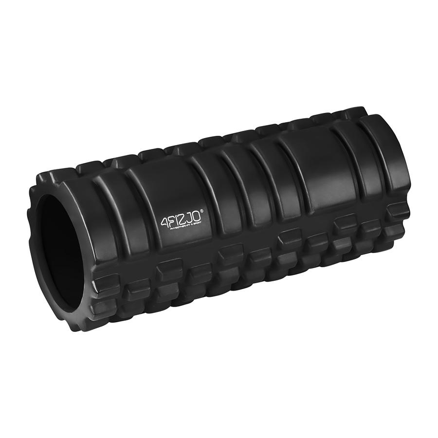 czarny roller z wypustkami średnio-twardy